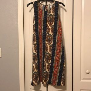 NWOT Boho Print SL Dress Size M